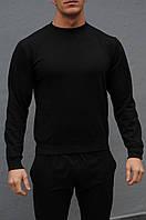 Черная мужская кофта свитшот