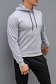 Сіра спортивна кофта з капюшоном
