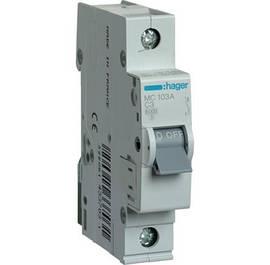 Автоматические выключатели HAGER тип C 6kA