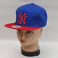 Мужская реперская кепка SNAPBACK - NY (синяя/красная)
