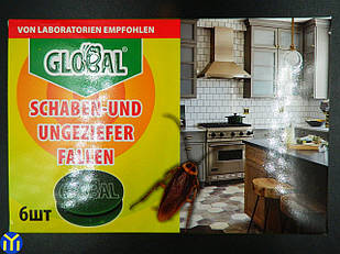 Ловушки для тараканов Global Глобал 6 шт.