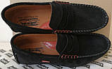 Levi's мужские пенни лоферы из натуральной замши черные ! Мокасины для весны, лета и осени levis левис, фото 3
