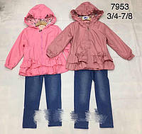 Стильный костюм двойка для девочек 3/8 лет