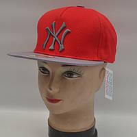 Мужская реперская кепка SNAPBACK - NY (красная)