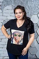 Стильная футболка больших размеров Пицунда