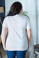 Стильная футболка для полных женщин Этюд, фото 3