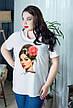 Стильная футболка для полных женщин Этюд, фото 2