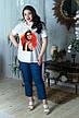 Стильная футболка для полных женщин Этюд, фото 6