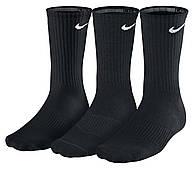 Носки спортивные Nike Cotton Crew 3-pack черные (SX4700-001)