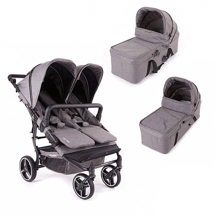 Коляска 2 в 1 для двойни Baby Monsters Easy Twin SE, фото 2