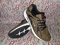 Мужские молодёжные кроссовки в стиле NIKE street цвет хаки