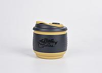 Кружка складна силіконова Tramp з кришкою 350ml black, фото 1