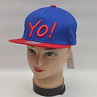 Мужская реперская кепка SNAPBACK - УО! (синяя/красная)
