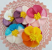 Пасхальное украшение из сахарной  мастики  набор Фиалки
