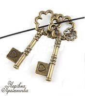 Винтажный декоративный ключ Цветок