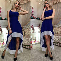 Красивое ассиметричное женское платье