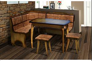 Комплект кухонный Далас. Мягкий уголок, стол, табуретки.