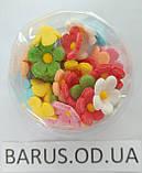 Пасхальное украшение из сахарной  мастики  набор Цветы льна микс, фото 5