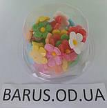 Пасхальное украшение из сахарной  мастики  набор Цветы льна микс, фото 7