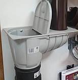 Дождеприемник отстойник трубы для любого водостока Светло-серый, фото 2