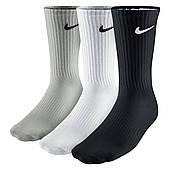 Носки спортивные Nike Cotton Cushion Crew Junior 3-pack черные-белые-серые (SX4719-967)