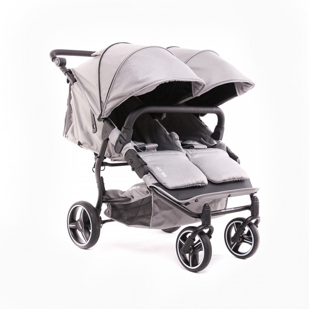 Универсальная коляска для двойни Baby Monsters Easy Twin SE