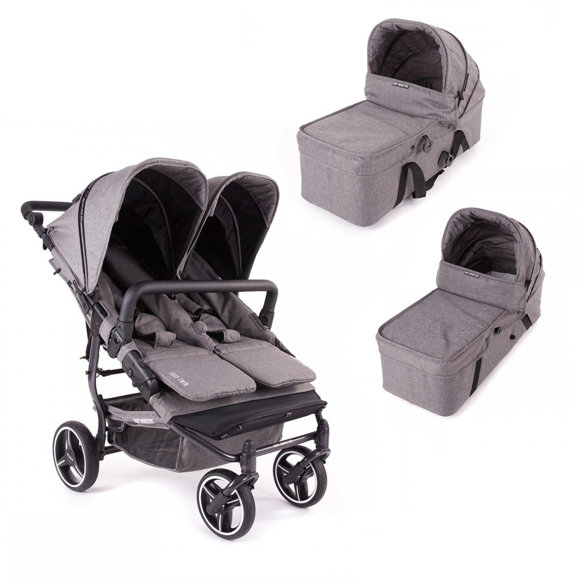 Универсальная коляска для двойни 2в1 Baby Monsters Easy Twin SE
