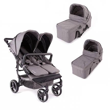 Универсальная коляска для двойни 2в1 Baby Monsters Easy Twin SE, фото 2