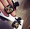 Корона і сережки а стилі Dolce&Gabbana, тіара чорна, модна біжутерія, фото 3