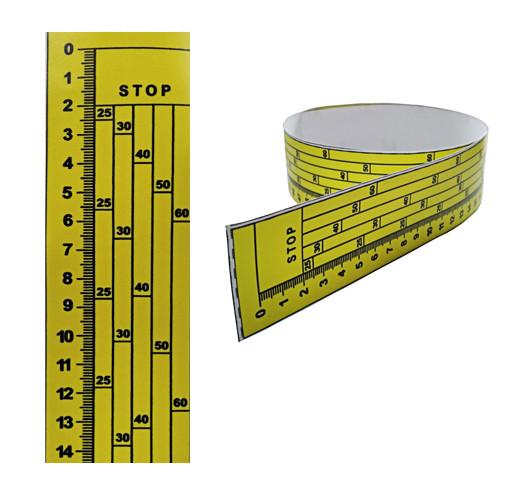 Линейка на дисковую пилораму, 0 сверху, наклейка