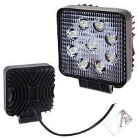 Противотуманная LED фара светодиодная  LML-K0727 SPOT(9led*3w) 105mm*105mm