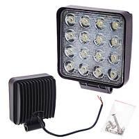 Противотуманная LED фара светодиодная  LML-K1748E/1048E SPOT(16led*2w) 105mm*105mm