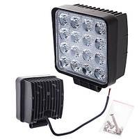 Противотуманная LED фара светодиодная  LML-K1748 FLOOD(16led*3w) 105mm*105mm