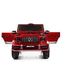 Дитячий електромобіль Джип 4180 EBLRS-3, Mercedes-Benz G63, колеса EVA, еко-шкіра, музика, світло, червоний лак, фото 2