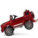 Дитячий електромобіль Джип 4180 EBLRS-3, Mercedes-Benz G63, колеса EVA, еко-шкіра, музика, світло, червоний лак, фото 6