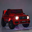 Дитячий електромобіль Джип 4180 EBLRS-3, Mercedes-Benz G63, колеса EVA, еко-шкіра, музика, світло, червоний лак, фото 8