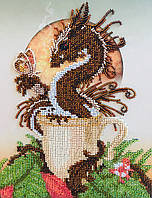 """СЛ-4117 Hot Chocolate Drago.Серия """"Чайно-кофейная"""".ТМ Миледи.Схема для частичной вышивки бисером"""