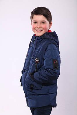 Демісезонна куртка для хлопчика 32-40 синій