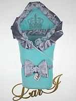 """Велюровый конверт-одеяло """"Очарование"""" на выписку"""