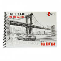 "Альбом для графики SANTI, А5, ""Fine art sketches"", 20 л. 190 г/м2 742621"