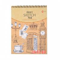 Альбом с крафтовой бумагой SANTI, А5, 50 л., 70 г/м2 742610