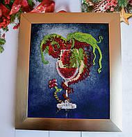 """СЛ-4118 Red Wine Drago.Серия """"Барная"""".ТМ Миледи.Схема для частичной вышивки бисером"""