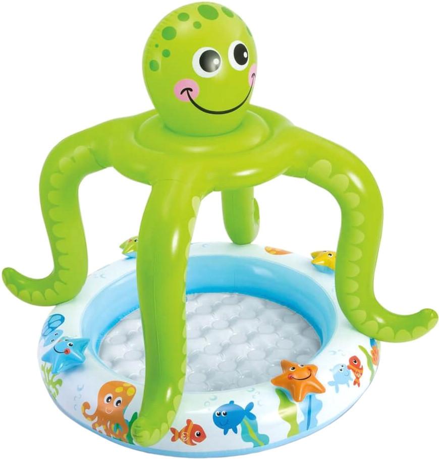 Детский надувной бассейн Intex 57115 с навесом осьминожка (bint_57115)