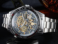 Часы наручные мужские WINNER W849 BSilver механические M194