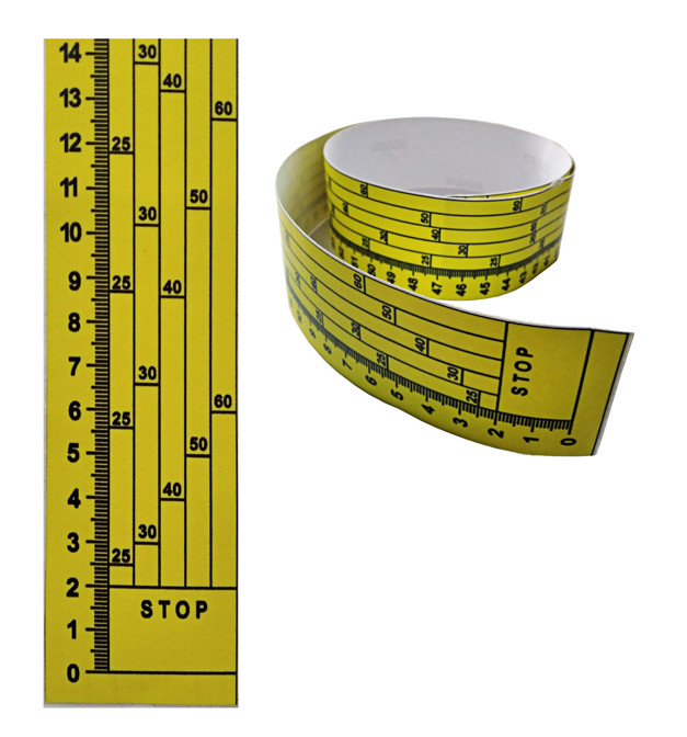 Лінійка на дискову пилораму, 0 знизу, наклейка