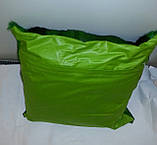 Подушка из шкуры африканской газели Спрингбок крашенная в зеленый цвет, фото 2