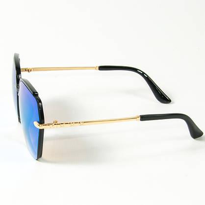 Оптом женские солнцезащитные зеркальные очки  (арт. 2323/3) голубые, фото 2