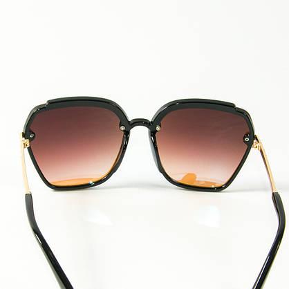 Оптом женские солнцезащитные зеркальные очки  (арт. 2323/3) голубые, фото 3