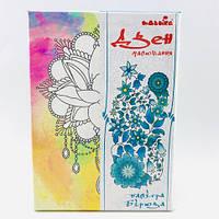 Набор для росписи на полотне Лилия (палитра бирюза) 18*25 DZ083