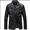 Чоловіча шкіряна куртка демісезонна. Арт.01694